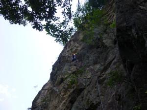 鋸ルートを登る。