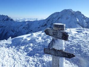 阿弥陀岳山頂より赤岳、横岳方面を望む