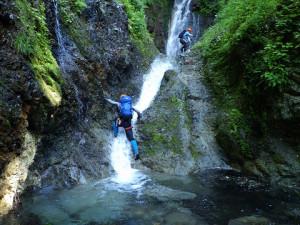 3段の滝は中断の滝上から巻いた