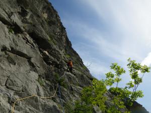 3P目 スラブからフレークの快適な登り
