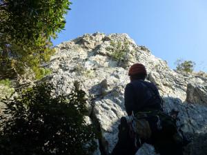 豊橋・立岩 西壁左にある謎のエリア NP使えば様々な登り方ができる