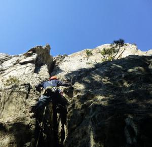 立岩「チムニールート」Ⅲは易しいが楽しい