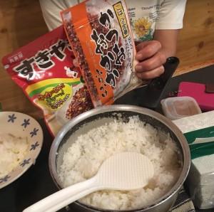 F田さんがご飯炊いてくれて毎食大満足の食生活だった